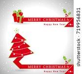christmas banners. vector ... | Shutterstock .eps vector #719956831