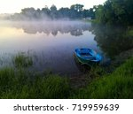early summer misty morning over ... | Shutterstock . vector #719959639