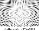 back and white dotted halftone... | Shutterstock .eps vector #719961001