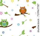cute seamless tiling texture... | Shutterstock .eps vector #719967787