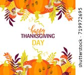 vector thanksgiving day...   Shutterstock .eps vector #719972695