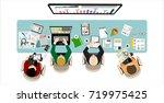 flat design illustration... | Shutterstock . vector #719975425