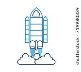 spaceship travel science... | Shutterstock .eps vector #719980339