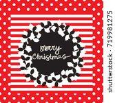 christmas dinner card. seamless ...   Shutterstock .eps vector #719981275