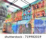 scenery of chinatown market... | Shutterstock . vector #719982019