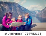 mother with kids travel in... | Shutterstock . vector #719983135