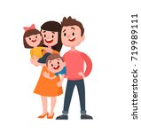 happy young family with... | Shutterstock .eps vector #719989111