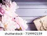peonies flowers close up and...   Shutterstock . vector #719992159