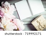 peonies flowers close up with...   Shutterstock . vector #719992171