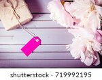 peonies flowers close up with...   Shutterstock . vector #719992195