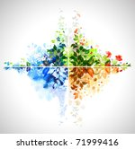 set of four season banners | Shutterstock .eps vector #71999416