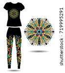 mandala on a women's sports... | Shutterstock .eps vector #719995291
