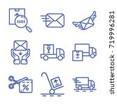 delivery icon set outline | Shutterstock .eps vector #719996281