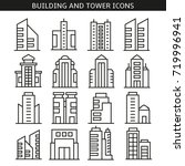 building and tower icons | Shutterstock .eps vector #719996941