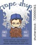 brutal bearded hipster man...   Shutterstock .eps vector #720000361