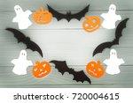 halloween holiday background...   Shutterstock . vector #720004615