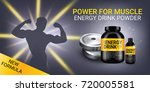 energy drink ads. vector... | Shutterstock .eps vector #720005581