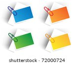 color sale tags with pin | Shutterstock .eps vector #72000724