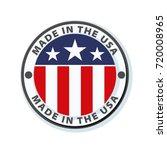 made in usa illustration | Shutterstock .eps vector #720008965