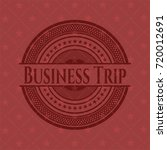 business trip badge with red... | Shutterstock .eps vector #720012691