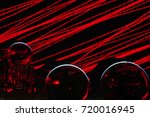 led drawing on wall | Shutterstock . vector #720016945