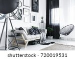 bright stylish room with metal... | Shutterstock . vector #720019531