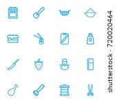 set of 16 editable meal outline ...