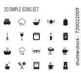 set of 20 editable restaurant...