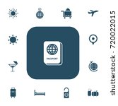 set of 13 editable travel icons.... | Shutterstock .eps vector #720022015