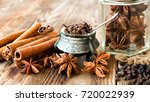 christmas flavored spices for... | Shutterstock . vector #720022939