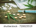 narcotic. cannabis. selective... | Shutterstock . vector #720025519