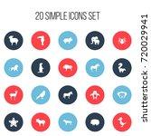 set of 20 editable animal icons....