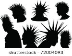 70s 80s punk rock hairstyle ...