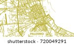detailed vector map of palermo... | Shutterstock .eps vector #720049291