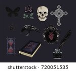 set of gothic  icons  stylized... | Shutterstock .eps vector #720051535