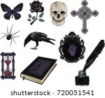 set of gothic  icons  stylized... | Shutterstock .eps vector #720051541