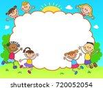 kids banner template poster... | Shutterstock . vector #720052054