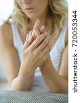 closeup on woman's hands...   Shutterstock . vector #720053344