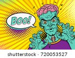 cartoon hand drawn zombie with... | Shutterstock .eps vector #720053527