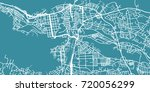 detailed vector map of tampere  ... | Shutterstock .eps vector #720056299