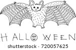 coloring page and doodle sketch ...   Shutterstock . vector #720057625