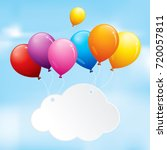 balloons in a blue sky | Shutterstock .eps vector #720057811
