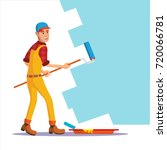 classic painter vector.... | Shutterstock .eps vector #720066781