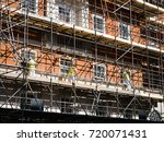 workers are working on... | Shutterstock . vector #720071431