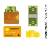 vector illustration of wallet... | Shutterstock .eps vector #720075679