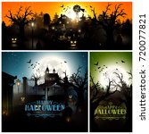 halloween backgrounds with... | Shutterstock .eps vector #720077821