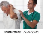 doctor and senior male patient... | Shutterstock . vector #720079924