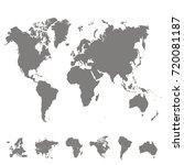 world map. europe asia america... | Shutterstock .eps vector #720081187
