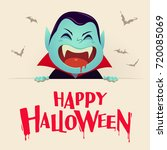 happy halloween. dracula... | Shutterstock .eps vector #720085069