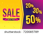 sale banner template design... | Shutterstock .eps vector #720085789